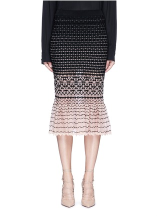 Main View - Click To Enlarge - Alexander McQueen - Macramé stitch peplum skirt