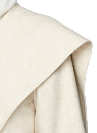 Detail View - Click To Enlarge - The Row - 'Lanja' oversize shawl lapel belted coat