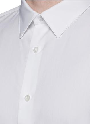 Detail View - Click To Enlarge - Alexander McQueen - Shoulder stripe cotton shirt