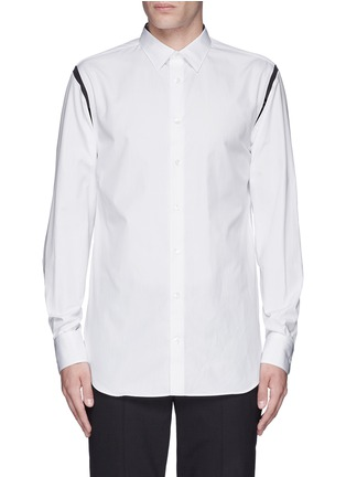 Main View - Click To Enlarge - ALEXANDER MCQUEEN - Shoulder stripe cotton shirt