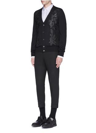 Figure View - Click To Enlarge - Alexander McQueen - Shoulder stripe cotton shirt