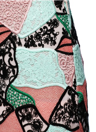 Detail View - Click To Enlarge - Emilio Pucci - Patchwork lips lace pencil skirt