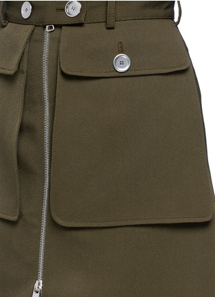 Detail View - Click To Enlarge - Alexander McQueen - Cavalry twill zip front military skirt