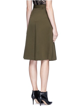 Back View - Click To Enlarge - Alexander McQueen - Cavalry twill zip front military skirt