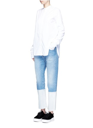 Figure View - Click To Enlarge - PORTS 1961 - Dipped hem whiskered jeans