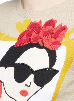 Detail View - Click To Enlarge - alice + olivia - 'Stace Face Frida' embellished sweater
