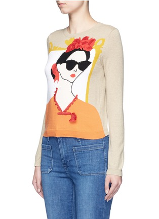 Front View - Click To Enlarge - alice + olivia - 'Stace Face Frida' embellished sweater