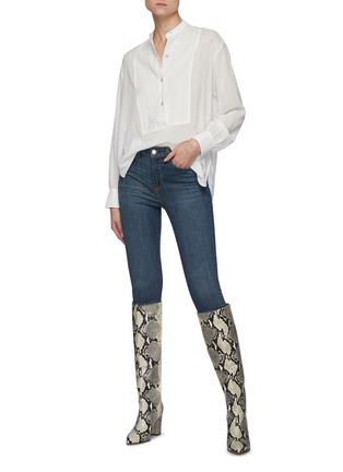 Figure View - Click To Enlarge - L'AGENCE - The Margot' cropped skinny pants