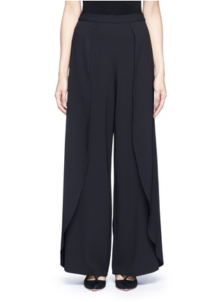 Main View - Click To Enlarge - ALICE + OLIVIA - 'Larissa' wrap wide leg pants