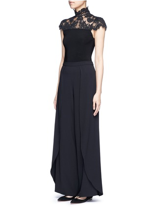 Figure View - Click To Enlarge - ALICE + OLIVIA - 'Larissa' wrap wide leg pants