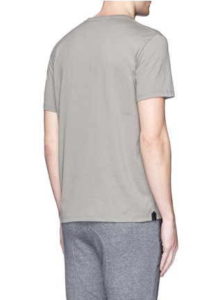 Back View - Click To Enlarge - Alexander McQueen - Military skull patch embroidery T-shirt