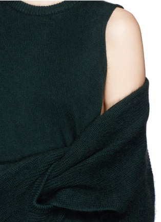 Detail View - Click To Enlarge - TOGA ARCHIVES - Asymmetric wrap layer wool sweater