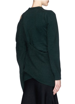 Back View - Click To Enlarge - TOGA ARCHIVES - Asymmetric wrap layer wool sweater