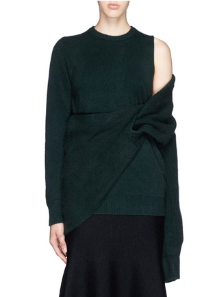 Main View - Click To Enlarge - TOGA ARCHIVES - Asymmetric wrap layer wool sweater