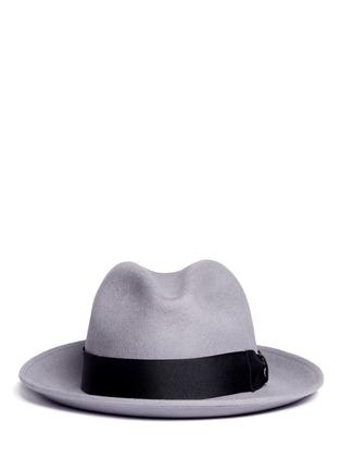 Main View - Click To Enlarge - SENSI STUDIO - Bow band fedora hat
