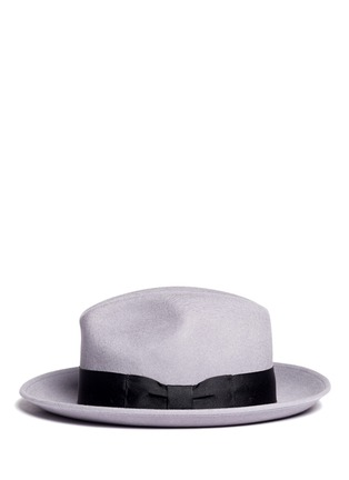 Figure View - Click To Enlarge - SENSI STUDIO - Bow band fedora hat