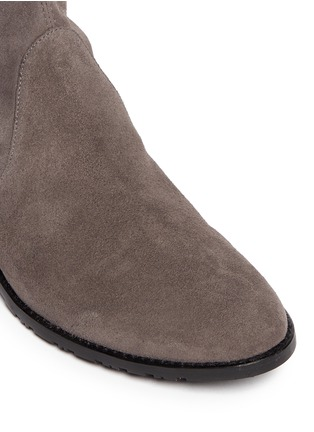 Detail View - Click To Enlarge - Stuart Weitzman - 'Lowland' stretch suede thigh high boots