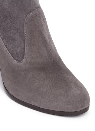 Detail View - Click To Enlarge - STUART WEITZMAN - 'Mitten' stretch suede ankle boots