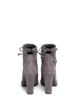 Back View - Click To Enlarge - STUART WEITZMAN - 'Mitten' stretch suede ankle boots