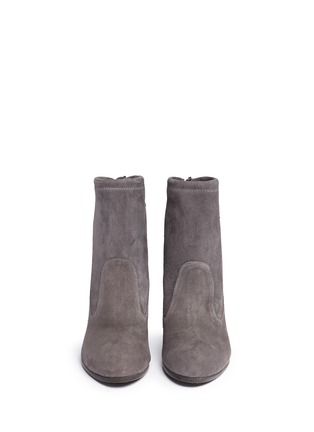 Front View - Click To Enlarge - STUART WEITZMAN - 'Mitten' stretch suede ankle boots