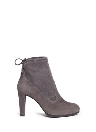Main View - Click To Enlarge - STUART WEITZMAN - 'Mitten' stretch suede ankle boots