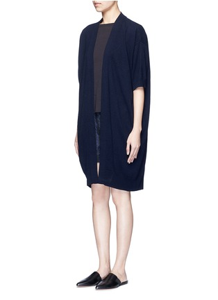 Front View - Click To Enlarge - Vince - Short sleeve cashmere cardigan
