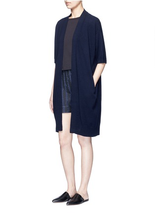 Figure View - Click To Enlarge - Vince - Short sleeve cashmere cardigan