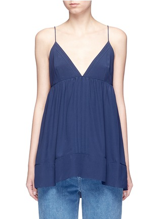 Main View - Click To Enlarge - Chloé - Silk crepe de Chine V-neck camisole