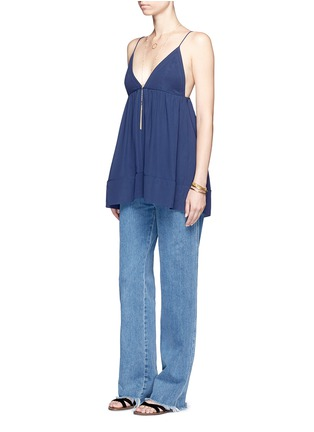Figure View - Click To Enlarge - Chloé - Silk crepe de Chine V-neck camisole