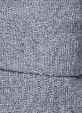 Detail View - Click To Enlarge - Stella McCartney - Foldable waist rib knit wool skirt
