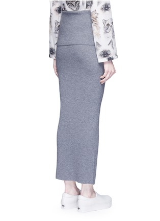 Back View - Click To Enlarge - Stella McCartney - Foldable waist rib knit wool skirt