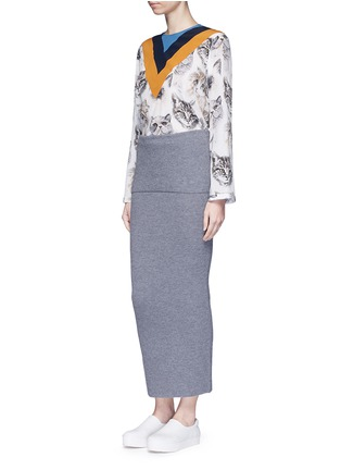 Figure View - Click To Enlarge - Stella McCartney - Foldable waist rib knit wool skirt
