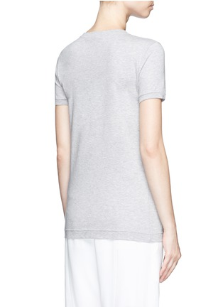Back View - Click To Enlarge - Dolce & Gabbana - 'Love' lace slogan jersey T-shirt