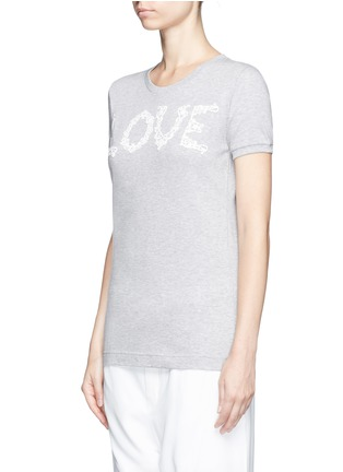 Front View - Click To Enlarge - Dolce & Gabbana - 'Love' lace slogan jersey T-shirt