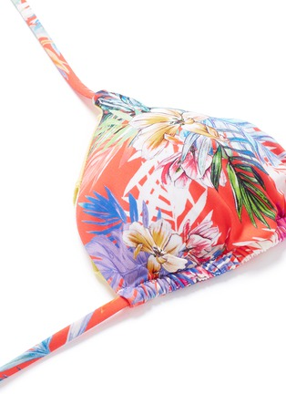 Detail View - Click To Enlarge - Vitamin A - 'Gia' tropical leaf print triangle bikini top
