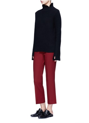 Figure View - Click To Enlarge - The Row - 'Seloc' cotton satin cropped pants