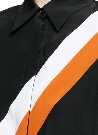 Detail View - Click To Enlarge - Stella McCartney - 'Odette' stripe silk crepe shirt