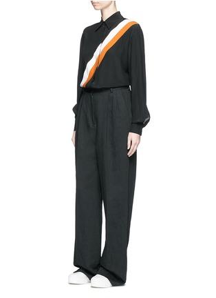 Figure View - Click To Enlarge - Stella McCartney - 'Odette' stripe silk crepe shirt