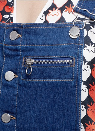 Detail View - Click To Enlarge - STELLA MCCARTNEY - Organic cotton button dungarees