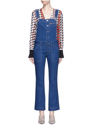 Main View - Click To Enlarge - STELLA MCCARTNEY - Organic cotton button dungarees