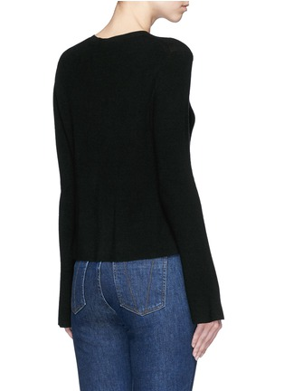 Back View - Click To Enlarge - Theory - 'Marlenia' rib knit cardigan