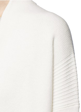 Detail View - Click To Enlarge - Vince - Side slit wool-cashmere cardigan