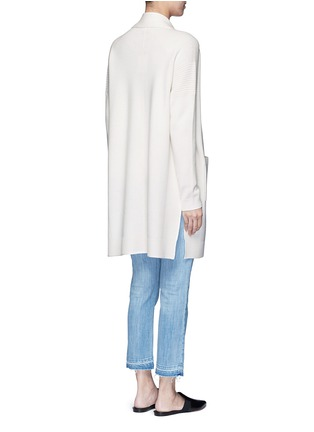 Back View - Click To Enlarge - VINCE - Side slit wool-cashmere cardigan