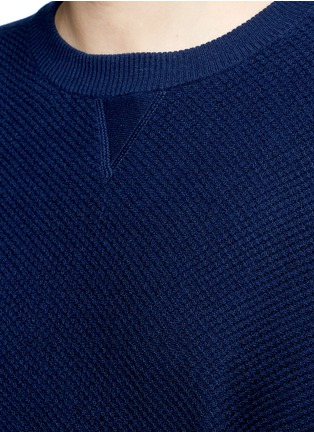 Detail View - Click To Enlarge - VINCE - Wool-silk waffle knit sweater