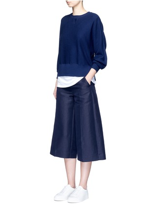 Figure View - Click To Enlarge - VINCE - Wool-silk waffle knit sweater