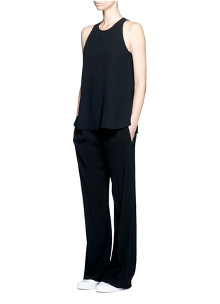 Figure View - Click To Enlarge - Vince - Laser cut crepe tank top