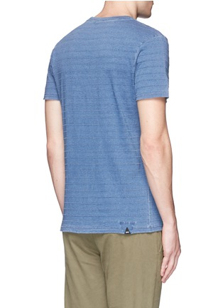 Back View - Click To Enlarge - Denham - 'Signature' stitch stripe T-shirt