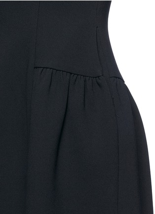 Detail View - Click To Enlarge - Co - Gathered flared collar crepe dress