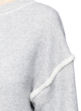 Detail View - Click To Enlarge - Helmut Lang - Heavy loop back terry oversized sweater