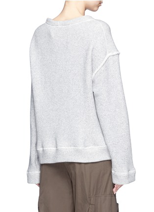 Back View - Click To Enlarge - Helmut Lang - Heavy loop back terry oversized sweater